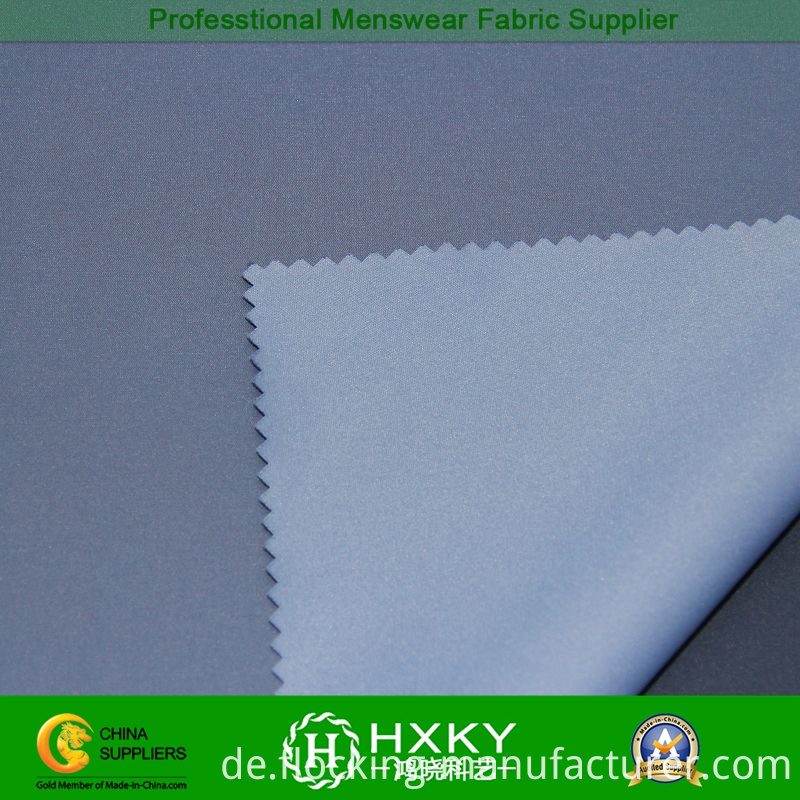 Plain Dyed Polyester Stretch Fabric for Men's Padded Jacket